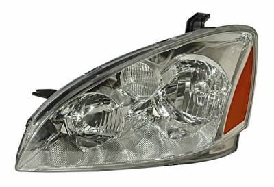 Headlights & Tail Lights - Headlights - Anzo - Nissan Altima Anzo Headlights - Crystal & Clear with Amber Reflectors - 121259