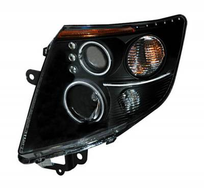Headlights & Tail Lights - Headlights - Anzo - Nissan Sentra Anzo Projector Headlights - Black & Clear with Amber Reflectors - 121263