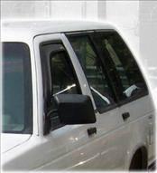 Accessories - Wind Deflectors - AVS - Chevrolet Tahoe AVS In-Channel Ventvisor Deflector - 2PC - 192099