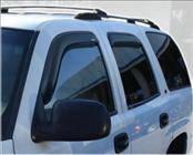 Accessories - Wind Deflectors - AVS - Chevrolet Tahoe AVS In-Channel Ventvisor Deflector - 4PC - 194304