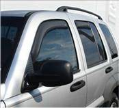 Accessories - Wind Deflectors - AVS - Jeep Liberty AVS In-Channel Ventvisor Deflector - 4PC - 194428