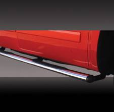 Suv Truck Accessories - Running Boards - Pilot - Hummer H3 Pilot Stainless Steel Oval Step Bar - Pair - NC-902