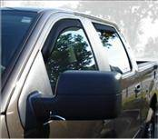 Accessories - Wind Deflectors - AVS - Ford F150 AVS In-Channel Ventvisor Deflector - 4PC - 194443