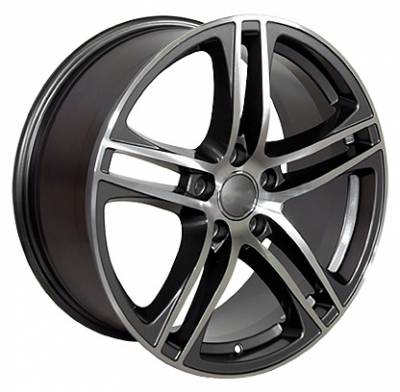 Wheels - Audi 4 Wheel Packages - OE - 17 In R8 Style gunmetal wheels - 4 Wheel Package