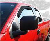 Accessories - Wind Deflectors - AVS - Ford F150 AVS In-Channel Ventvisor Deflector - 4PC - 194738