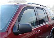 Accessories - Wind Deflectors - AVS - Ford Explorer AVS In-Channel Ventvisor Deflector - 194819