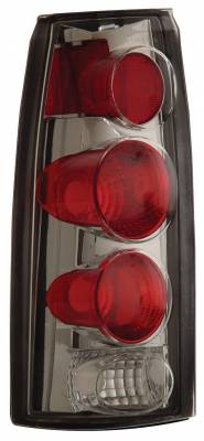 Headlights & Tail Lights - Tail Lights - Anzo - Chevrolet CK Truck Anzo Taillights - 3D Style - Chrome - 211017