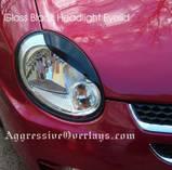 Headlights & Tail Lights - Headlight Covers - Custom - Aggressive Style Eyelids Overlays Srt 4