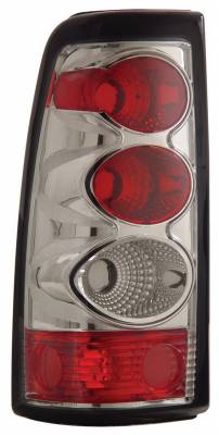 Headlights & Tail Lights - Tail Lights - Anzo - Chevrolet Silverado Anzo Taillights - Chrome - 211020