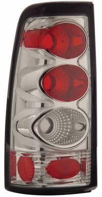 Headlights & Tail Lights - Tail Lights - Anzo - GMC Sierra Anzo Taillights - Chrome - 211023