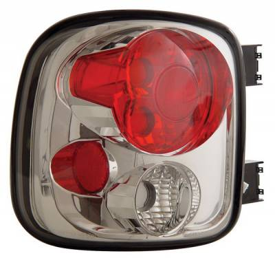 Headlights & Tail Lights - Tail Lights - Anzo - GMC Sierra Anzo Taillights - Chrome - 211026