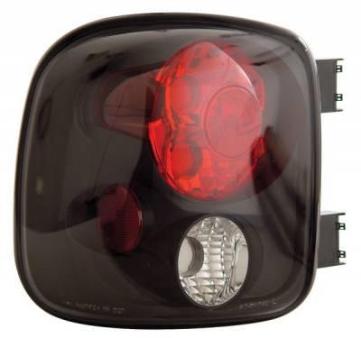 Headlights & Tail Lights - Tail Lights - Anzo - GMC Sierra Anzo Taillights - Black - 211028