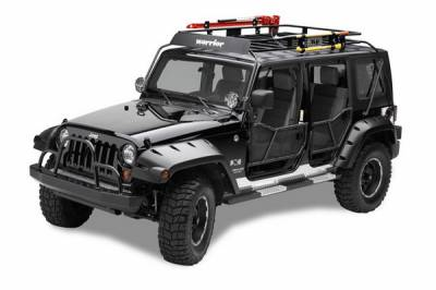 Warrior - Jeep Cherokee Warrior Safari Sport Rack - Breakdown Basket with Gutter Mounts - 842