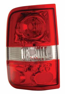 Headlights & Tail Lights - Led Tail Lights - Anzo - Ford F150 Anzo LED Taillights - Red & Clear - 211058
