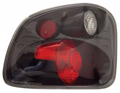 Headlights & Tail Lights - Tail Lights - Anzo - Ford F-Series Anzo Taillights - Version 2 - Carbon - 211067