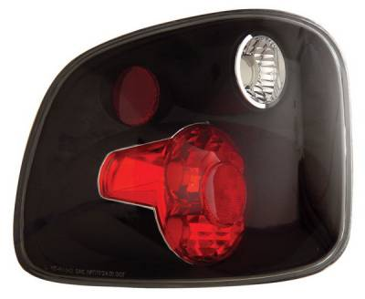 Headlights & Tail Lights - Tail Lights - Anzo - Ford F-Series Anzo Taillights - Version 2 - Black - 211069