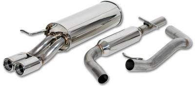 Exhaust - Custom Fit Exhaust - Vibrant - Stainless Steel Rear Section Exhaust Piping - 1713