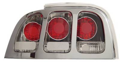 Headlights & Tail Lights - Tail Lights - Anzo - Ford Mustang Anzo Taillights - Chrome - 221018