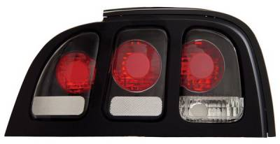 Headlights & Tail Lights - Tail Lights - Anzo - Ford Mustang Anzo Taillights - Black - 221020