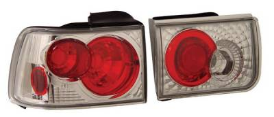 Headlights & Tail Lights - Tail Lights - Anzo - Honda Accord Anzo Taillights - Chrome - 221034