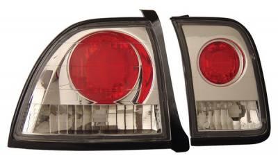 Headlights & Tail Lights - Tail Lights - Anzo - Honda Accord Anzo Taillights - Chrome - 221037
