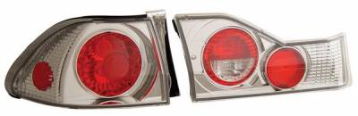 Headlights & Tail Lights - Tail Lights - Anzo - Honda Accord 4DR Anzo Taillights - Chrome - 221040