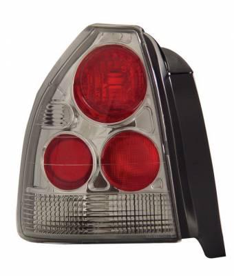 Headlights & Tail Lights - Tail Lights - Anzo - Honda Civic HB Anzo Taillights - Chrome - 221063