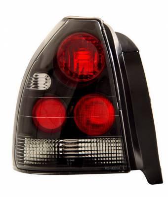 Headlights & Tail Lights - Tail Lights - Anzo - Honda Civic HB Anzo Taillights - Black - 221065