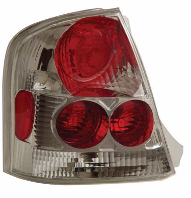 Headlights & Tail Lights - Tail Lights - Anzo - Mazda Protege Anzo Taillights - Chrome - 221091