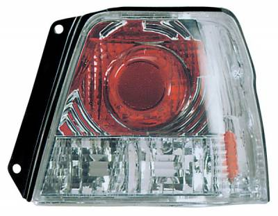 Headlights & Tail Lights - Tail Lights - Anzo - Toyota Tercel Anzo Taillights - Chrome - 221107