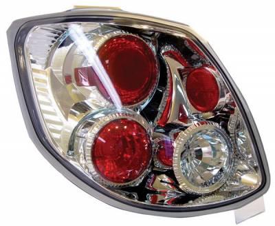 Headlights & Tail Lights - Tail Lights - Anzo - Toyota Matrix Anzo Taillights - Chrome - 221116