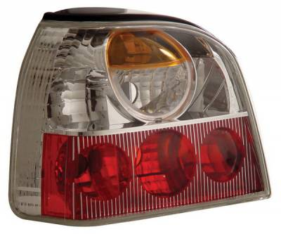 Headlights & Tail Lights - Tail Lights - Anzo - Volkswagen Golf Anzo Taillights - Chrome - 221120