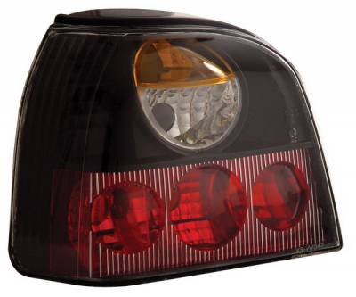 Headlights & Tail Lights - Tail Lights - Anzo - Volkswagen Golf Anzo Taillights - Black - 221121