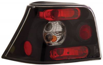 Headlights & Tail Lights - Tail Lights - Anzo - Volkswagen Golf Anzo Taillights - Black - 221124