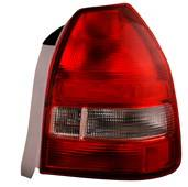 Headlights & Tail Lights - Tail Lights - Anzo - Honda Civic HB Anzo Taillights - Red & Clear - 221135