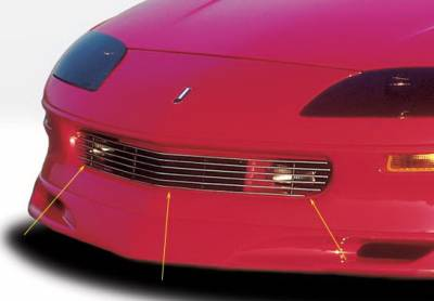 Grilles - Custom Fit Grilles - Wings West - Chevrolet Camaro Wings West Billet Grille - 302005