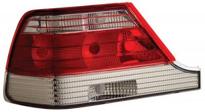 Headlights & Tail Lights - Tail Lights - Anzo - Mercedes-Benz S Class Anzo Taillights - Red & Clear - 221153