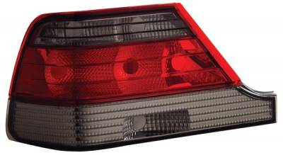 Headlights & Tail Lights - Tail Lights - Anzo - Mercedes-Benz S Class Anzo Taillights - Red & Smoke - 221154