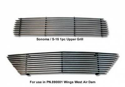 Grilles - Custom Fit Grilles - Wings West - GMC Sonoma Wings West Billet Grille Set - 2PC - 302030