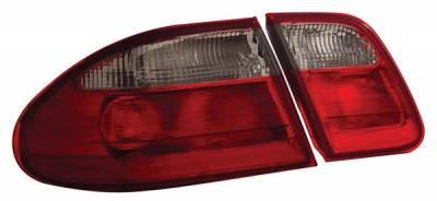 Headlights & Tail Lights - Tail Lights - Anzo - Mercedes-Benz E Class Anzo Taillights - Red & Clear - 221156