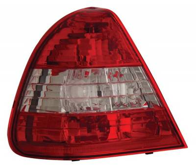 Headlights & Tail Lights - Tail Lights - Anzo - Mercedes-Benz C Class Anzo Taillights - Red & Clear - 221157