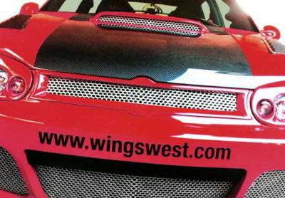 Grilles - Custom Fit Grilles - Wings West - Volkswagen Golf Wings West G-Spec Front Grille Insert - 890784