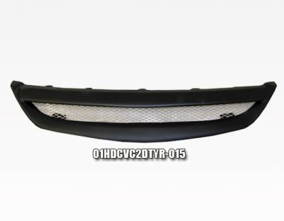 Grilles - Custom Fit Grilles - VIS Racing - Honda Civic 2DR VIS Racing Type-R Carbon Fiber Front Grille - 01HDCVC2DTYR-015