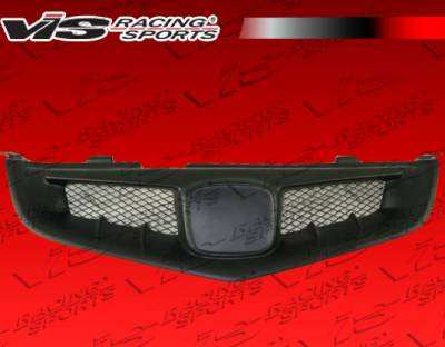 Grilles - Custom Fit Grilles - VIS Racing - Acura TSX VIS Racing JS Front Grille - 04ACTSX4DJS-015