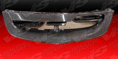 Grilles - Custom Fit Grilles - VIS Racing - Honda Civic HB VIS Racing Techno R Front Grille - Carbon Fiber - 04HDCVCHBTNR-015C