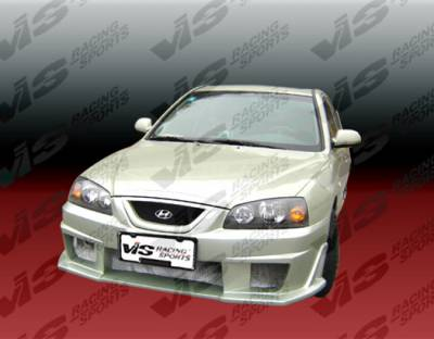 Grilles - Custom Fit Grilles - VIS Racing - Hyundai Elantra 4DR VIS Racing Cyber Front Grille - 04HYELA4DCY-015