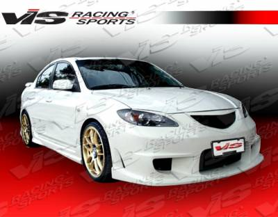 Grilles - Custom Fit Grilles - VIS Racing - Mazda 3 4DR VIS Racing Wings Front Grille - 04MZ34DWIN-015