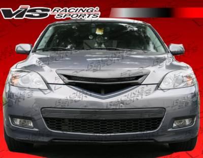 Grilles - Custom Fit Grilles - VIS Racing - Mazda 3 4DR HB VIS Racing A Spec Front Grille - 07MZ3HBASC-015