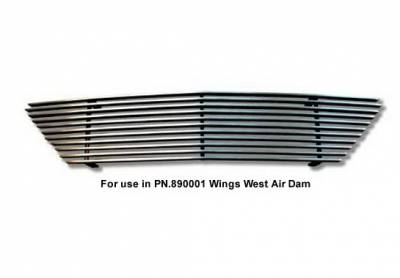 Grilles - Custom Fit Grilles - Wings West - Chevrolet S10 Wings West Billet Grille Lower - 1PC - 302002L