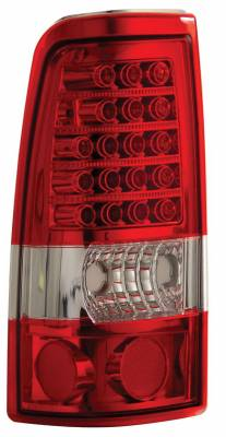 Headlights & Tail Lights - Led Tail Lights - Anzo - GMC Sierra Anzo LED Taillights - Red & Clear - 311010